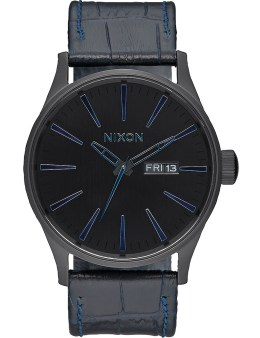 Nixon Navy Gator Sentry Leather Watch Picture