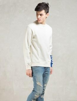 PHENOMENON White Cutoff Sleeve Crewneck Sweatshirt Picture
