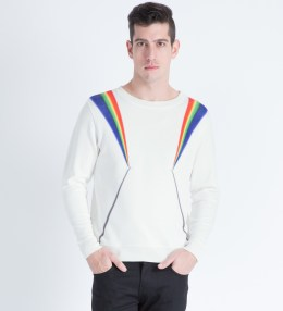 PHENOMENON White Prism Light Pullover Sweater Picture