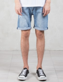 Cheap Monday High Cut Future Washed Denim Shorts Picture