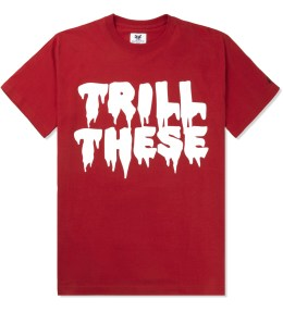 Mark McNairy for Heather Grey Wall Red Trill These Print T-Shirt Picture