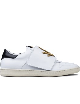 Palm Angels Embroidered Leaf Strap Low-cut Sneakers Picture