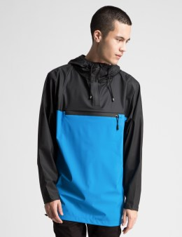 RAINS Black/Skyblue Anorak Jacket Picture