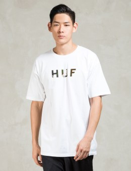HUF White Original Logo T-shirt Picture