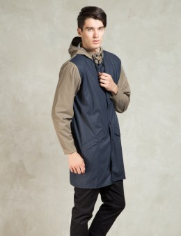 RAINS Blue/Soil Long Jacket Picture