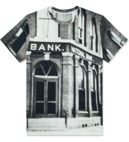 CARVEN Black/White Bank Jersey T-Shirt Picture