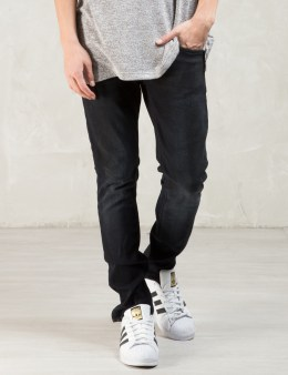 Nudie Jeans Black Black Changes Lean Dean Jeans Picture