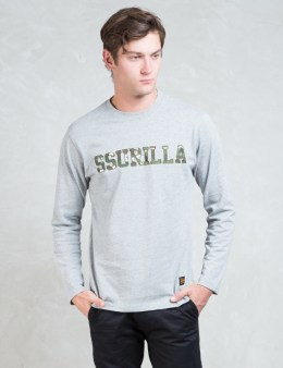 SSUR Grey Ssurilla Camo Applique L/S T-Shirt Picture