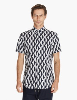 ZANEROBE Navy/white Edge 7ft S/s Shirt Picture