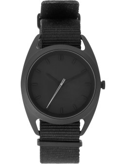 Nocs Atelier Black Seconds Watch With Silver Second Hand Picture