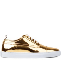 McQ Alexander McQueen Metallic Lace Up Sneakers Picture