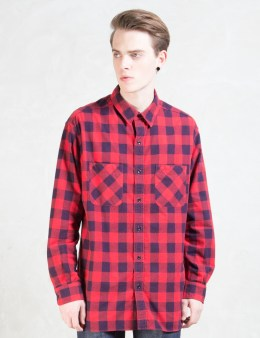 UNUSED Red Check US1042 L/S Shirt Picture
