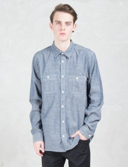 Carhartt WORK IN PROGRESS Rigid 4.5oz Clink L/S Chambray Shirt Picture