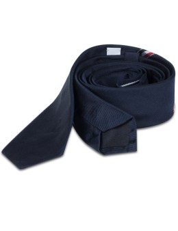 THOM BROWNE Silk Classic Necktie In Hector with RWB Stripe Picture