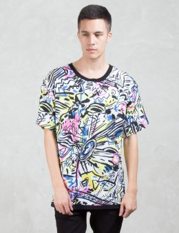 MOSCHINO Multi Color Graphic S/S T-Shirt Picture