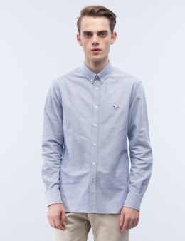 MAISON KITSUNE Tricolor Patch Classic Oxford Button Down Shirt Picture