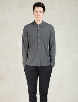 SUNSPEL Charcoal Long Sleeve Pique Shirt Picture
