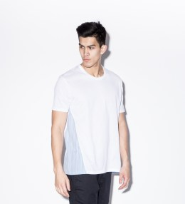 Aloye White/Light Blue AY025-02 Shirt Fabric Color Block S/S T-Shirt Picture