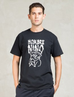 Hombre Nino Black S/S Parent and Child Print T-Shirt Picture