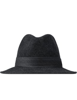 The Hill-Side Black Covert Hickory Stripe Twill Wool Felt Hat Picture