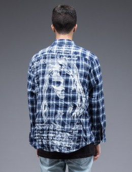 SAM by Warren Lotas Blue Flannel L/S Shirt Style E (Size M) Picture