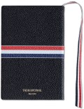 THOM BROWNE Pebble Grain Leather Cover Small Notebook with RWB Grosgrain Picture