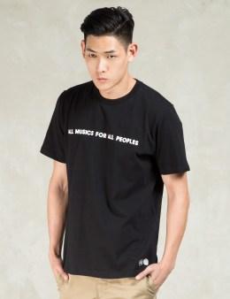 Carhartt WORK IN PROGRESS Black/White S/S Musics T-Shirt Picture