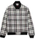 CARVEN Beige Large Check Wool Jacket Picture