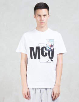 McQ Alexander McQueen Mcq W/ Floral Print S/S T-Shirt Picture