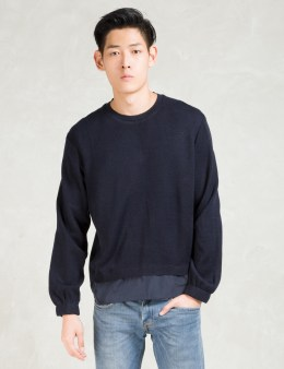 Still Good Navy Layered Pullover Sweater Picture
