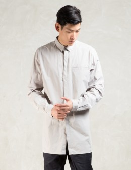 STAMPD Grey L/S Elongated Button Down Shirt Picture