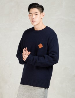 Manastash Navy L/S Crewneck Lightweight Sweater Picture