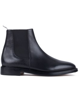 THOM BROWNE Pebble Grain Leather Chelsea Boots Picture