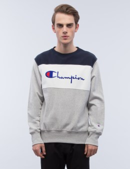 Champion Reverse Weave Tri-Color Scrip Logo Swearshirt Picture