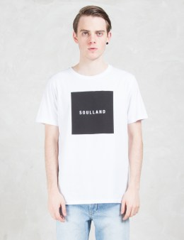 Soulland White Soulsquare T-shirt W.print Picture