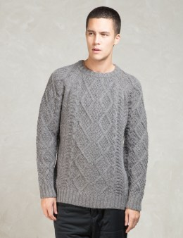 snow peak Grey Cable Knit Sweater Picture