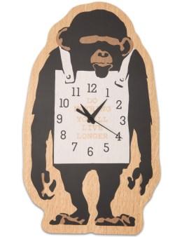 "Medicom Toy Sync.-Brandalism x Karimoku ""Monkey Sign"" Wall Clock Picture"