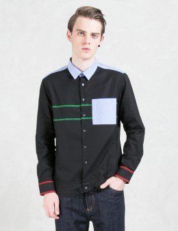 MSGM Contrast Pocket Hand Stitch Shirt Picture