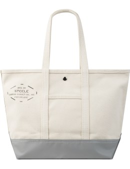 """DELUXE White """"Deluxe x Steele Canvas Basket"""" Tote Bag Picture"""