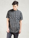 KNYEW Black Plaid Zip-up Picture
