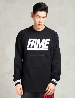 HALL OF FAME Black Jumbo Crewneck Sweatshirt Picture