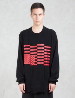 LAD MUSICIAN Loop Back Cloth Print Sweatshirt Picture