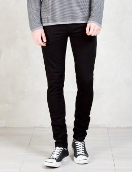 Nudie Jeans Black Black Skinny Lin Jeans Picture