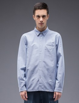 """BEDWIN & THE HEARTBREAKERS """"Shaw"""" Side Pocket L/S Oxford Shirt Picture"""