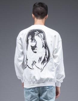 SAM by Warren Lotas White Crewneck Sweatshirt Style E (Size M) Picture