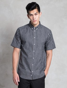 i love ugly. Grey Block Short Sleeve Shirt  Picture