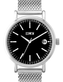 EDWIN Watch Silver With Black Dial Epic Picture