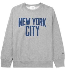 Medicom Toy Heather Grey New York City Crewneck Sweater Picture