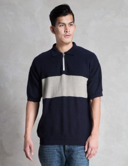 VAINL ARCHIVE Navy Line Polo Picture