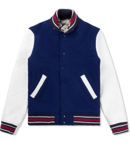 DELUXE Blue Trouble Town Varsity Jacket Picture